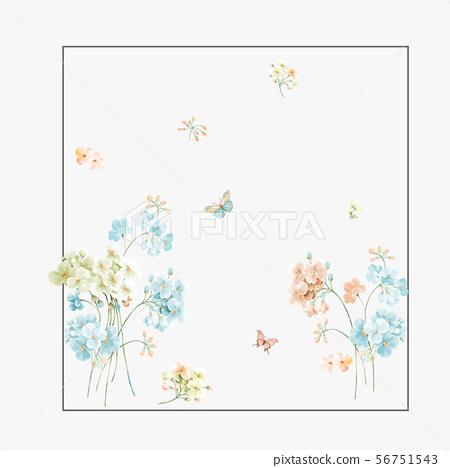 優雅的水彩花卉和海報設計 56751543