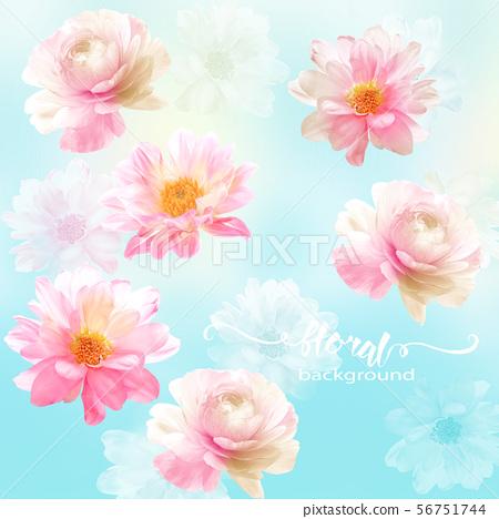 Elegant watercolor floral and poster design 56751744