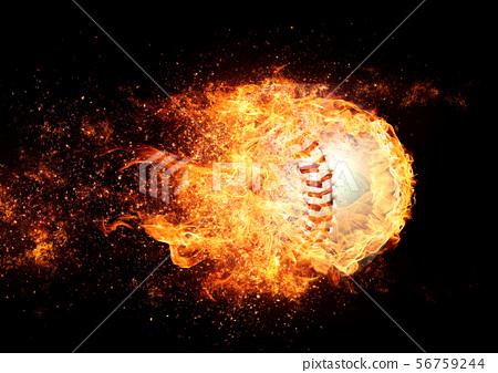타오르는 야구 공 56759244