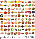 global gastronomy collage in white background 56761204