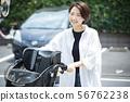 女性Mamachari自行車接送通勤者通勤主婦 56762238