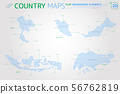 Thailand, Malaysia, Indonesia and Singapore Vector Maps 56762819