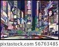 New York city at night 56763485