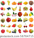 fruit collage on white background 56764715