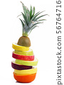 fruit slices on white background 56764716
