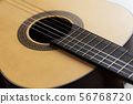 Close-up Wooden Spanish classic guitar with nylon 56768720
