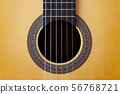 Abstract background Wooden Spanish classic guitar 56768721