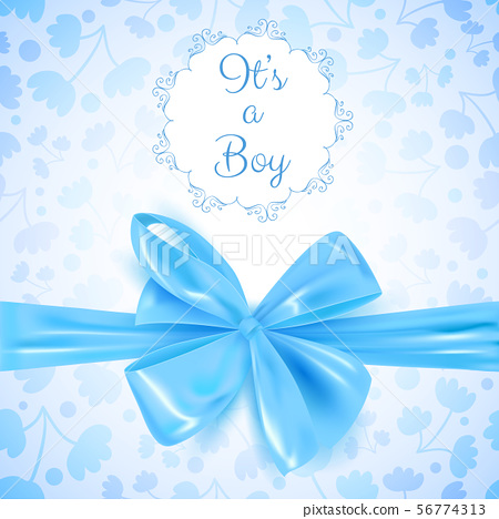 It's a boy baby shower cute card invitation with 56774313