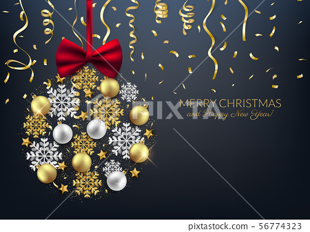 Merry Christmas decorative elements bauble 56774323
