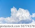 적란운 뭉게 구름 여름 56774378