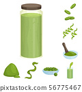 Vector design of spirulina and seaweed symbol. Collection of spirulina and vegan stock vector 56775467