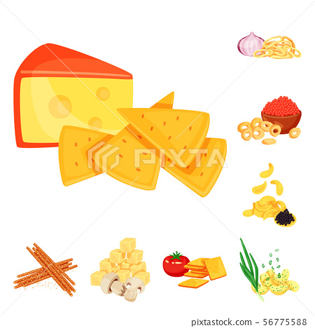 Vector design of food and product symbol. Set of food and party vector icon for stock. 56775588
