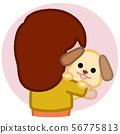 사랑받는 강아지 컷 일러스트 56775813