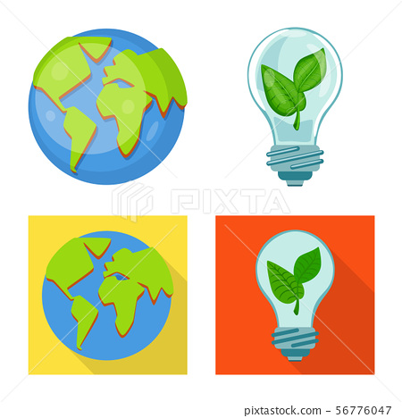 Vector illustration of innovation and technology symbol. Collection of innovation and nature stock 56776047