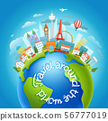 Around the world travelling concept with 56777019