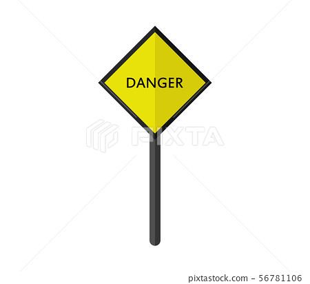 danger signal icon 56781106