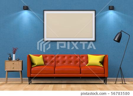 mock up poster frame in interior living room 56783580
