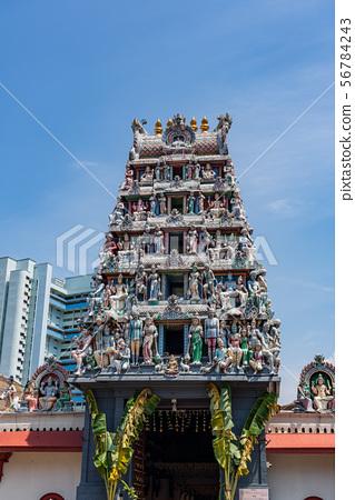 [新加坡風光]斯里馬里安曼寺垂直構圖 56784243