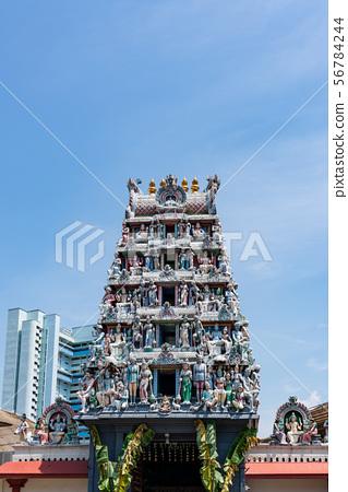 [新加坡風光]斯里馬里安曼寺垂直構圖 56784244