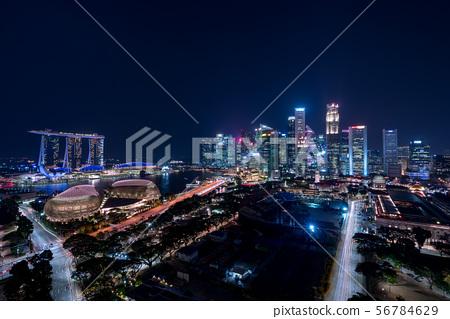 新加坡城市景觀夜景 56784629