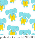 seamless pattern Cute elephant. fashion illustration for children 56786603