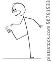 Vector Cartoon of Man or Businessman Who Step on Thumbtack or Drawing Pin or Pushpin. Its Stick in 56791533