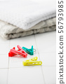 Clothespin and clean towel 56793985
