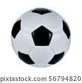 soccer ball isolated on white 56794820
