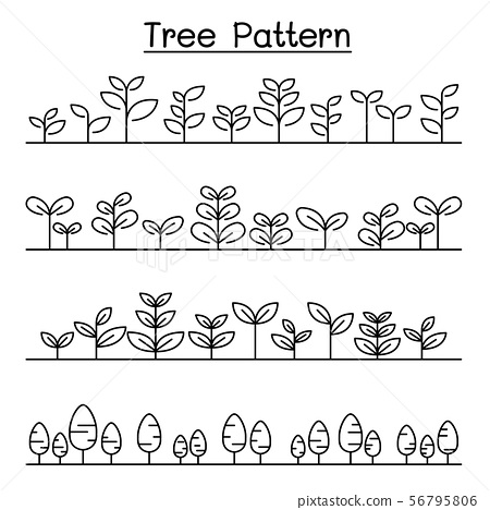 Little Tree pattern Landscape , shrub background 56795806