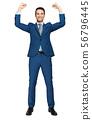Young businessman enjoying the success 56796445