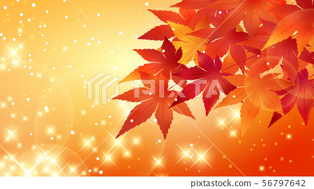 閃爍的槭樹_濃密的_16:9的橙色背景例證 56797642