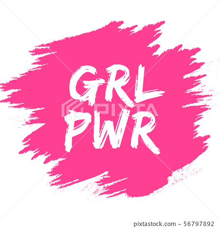Girl power slogan for girls empowerment and 56797892