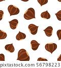 chestnut seamless pattern on white 56798223