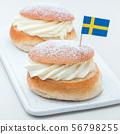 Traditional swedish dessert Semla 56798255