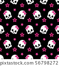 funny pattern with cute skeleton 56798272
