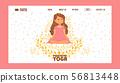 Meditating yogi pregnant woman in yoga lotus pose wearing dress banner vector illustration 56813448