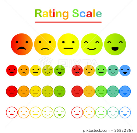 Emoticons mood scale on white background 56822867