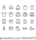Clothes and accessories related icon set. 56824079