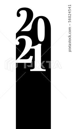 Happy new year 2021 vector background.  56824541