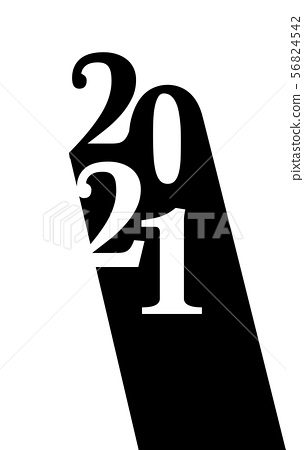 Happy new year 2021 vector background.  56824542