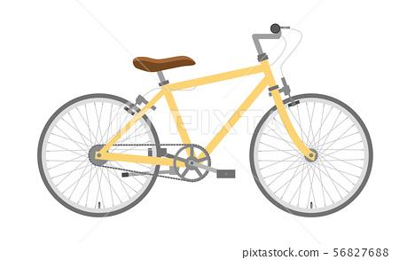 자전거 일러스트 노란색 | 스포츠 타입 가로 | 유럽 도시 바이크 56827688