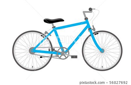 자전거 일러스트 하늘색   스포츠 타입 가로   유럽 도시 바이크 56827692