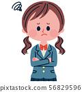 고민하고있는 여학생의 일러스트 56829596