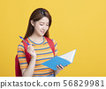 Portrait of beautiful asian  student studying 56829981