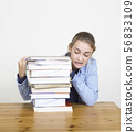 student with books 56833109