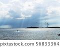 sunbeam with kitesurfer 56833364
