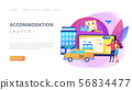 Online booking services concept landing page 56834477