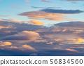 저녁 여름 하늘 태풍이 접근 푸른 하늘과 구름 e-1 56834560