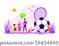 Sport summer camp concept vector illustration 56834600