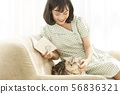 Women lifestyle pets 56836321